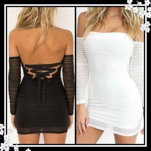 New Off the shoulder Corset back Party dress!